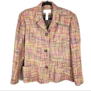 Liz Claiborne Size 1X Bright Tweed Blazer